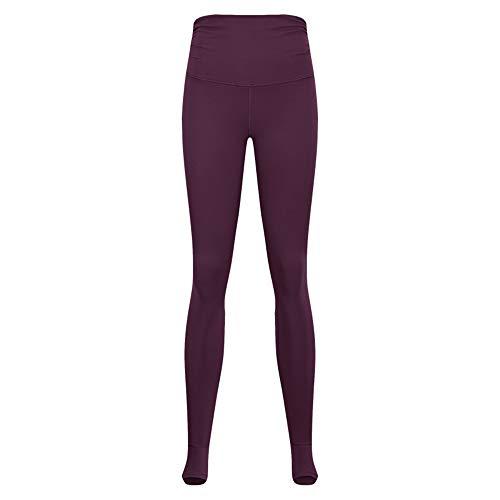 PPPPA Damen treten auf die Taille Taille Falten Yogahosen Sporthose Fitnesshose Mode Sommer Frauen hohe Taille schlanke Yogahose atmungsaktive schnell trocknende einfarbige Sporthose