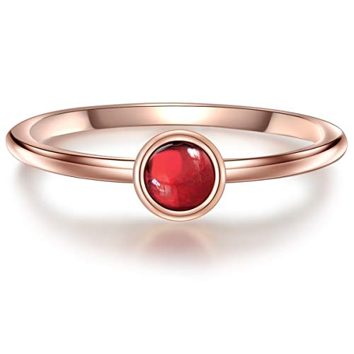 Ring Sterling Silber rosévergoldet Granat