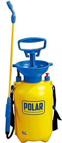 Polar Premium 5 Litre Pump Action Pressure Garden Sprayer with Safety Valve and Shoulder Strap, Use with Weed Killer, Pesticides, Herbicides and Fungicides - Chemical Sprayer