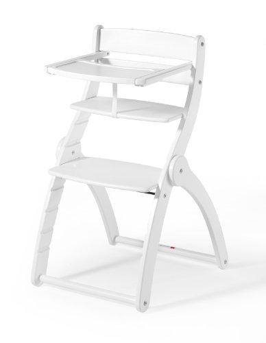 Schardt Chaise Haute en Hêtre Massif - Charly - Blanc