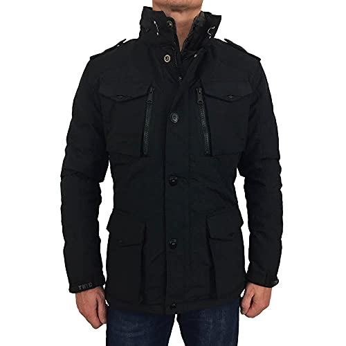 Schott (Brand National) - Field Giacca modello parka, a manica lunga Uomo, Nero (Black), X-Large