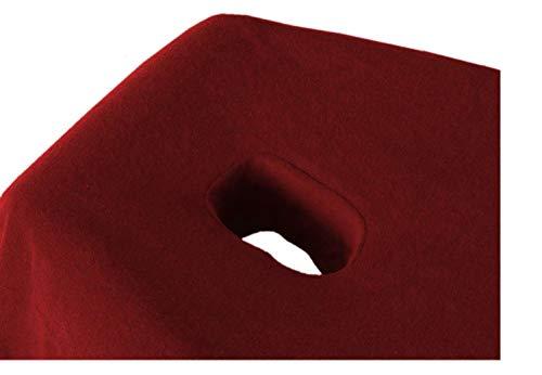 EXKLUSIV HEIMTEXTIL Massageliege Frottee Spannbettlaken mit Nasenschlitz Marke 70-80 cm x190-200 cm Bordeaux