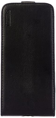 mumbi Echt Leder Flip Hülle kompatibel mit iPhone 7 Plus / 8 Plus Hülle Leder Tasche Hülle Wallet, schwarz