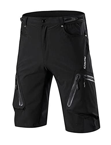 Jueshanzj Ciclismo pantalones para hombre de verano de secado rápido off-road ciclismo al aire libre ropa deportes bicicleta de montaña pantalones cortos ciclismo ropa hombre, Negro, 4X-Large