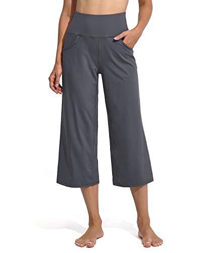 Promover Pantalones de Yoga para Mujer Sport Bootcut con Bolsillos Bootleg Sports Chándal para Running Jogging