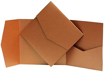 1 Copper Pearlescent Pocketfold Invites 144mmx144mm