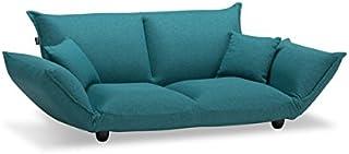 フランスベッド ソファーベッド ブルー色 2人掛け ピッツ ソファ 50701240