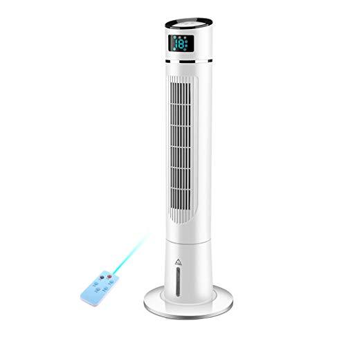 Ventilador De Torre con Piso Oscilante Casero con Enfriamiento Silencioso, 3 Modos, hasta 8H Temporizador, Ventilador De Pie Sin Aspas con Control Remoto, Botones De Función Táctil