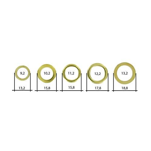 60 verschiedene Fitschenringe - Fitschenring-Sortiment - unterschiedliche Größen/zum anheben von Türen