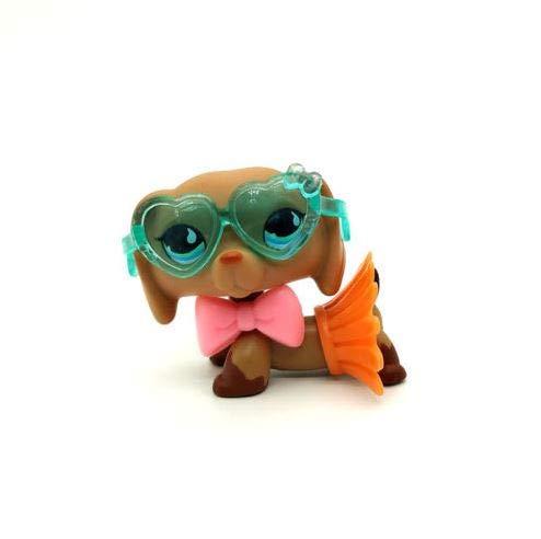 #518 Littlest Pet Shop Puppy Dog Dachshund Blue Teardrop Eyes LPS 3/Accessories
