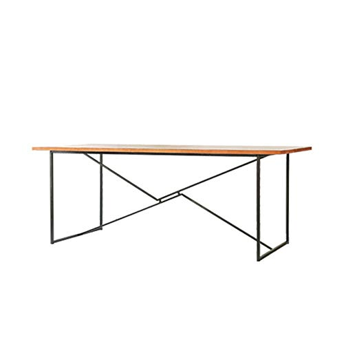 ShurndGao Desk Modern Simple Metal Wood Desk Computer Desk Home Office Desk Gaming Tables Computer Table (Color : Brown, Size : 160x70x75cm)