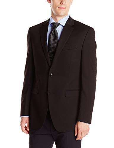Perry Ellis Men's Slim Fit Suit Separate Blazer (Blazer, Pant, and Vest), Black, 48 Long
