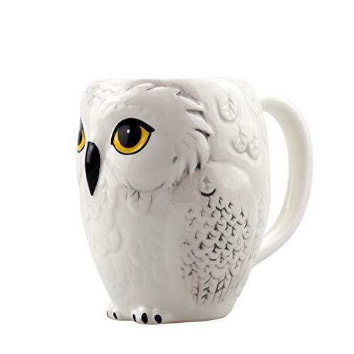 AICUP Kreative Eule Becher Keramik Becher Keramik Milch TeeTasseFrühstück Morgen BecherKaffee Tasse Sammlung Cartoon Kaffeetasse