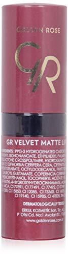 Golden Rose Velvet Matte Lippenstift, 16 coral tree red, 1er Pack