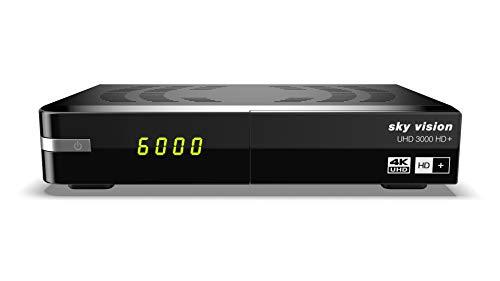 sky vision UHD 3000 HD+ Digitaler UHD Satellitenreceiver (4K UHD, HDTV, DVB-S2, HDMI, USB 3.0, PVR-Ready, 2160p, Unicable)