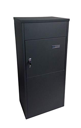 1a-Handelsagentur Paketbriefkasten schwarz Paketbox Postkasten Standbriefkasten Wandbriefkasten