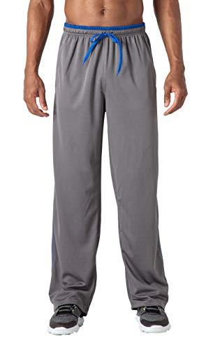 Cotrasen Pantalones deportivos de malla para hombre, de secado rápido, ligeros, transpirables, con bolsillo con cremallera, para hacer ejercicio, con cordón ajustable