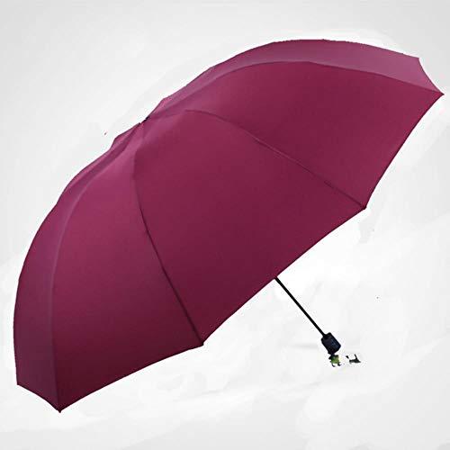 Yukie 130CM Paraplu Mannen Regen Vrouw Winddichte Grote Parapluie Mannelijke Vrouwen Zon 3 Vouwen Grote Parapluie Outdoor