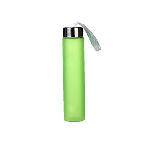 Nicedier Botella de Agua Clara Moda H2o impresión Deporte Botella Jugo de Fruta Taza de Agua con el Almacenamiento de Bolsa de 280 ml Green Home