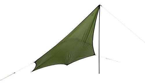Grand Canyon Abris du Zuni Ray - Bâche/voilure de Tente pour voiles de Soleil - Forme d'aile, UV50+, étanche - Capulet Olive (Vert)