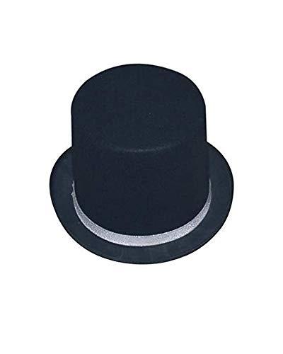 Dress Up America Sombrero de Copa Silver Tuxedo Adulto con Borde