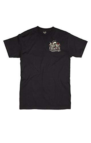 Lucky 13 Herren T-Shirt Whiskey and Tears, Größe:L, Farbe:Black
