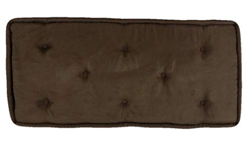 Best Review Of Brown Bench Cushion Pad Tufted (14-1/2 x 35)