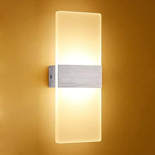 Tanktoyd Luz de noche Lámpara de pared LED Luz de noche simple Sala de estar Balcón Pasillo Aplique de pared Pasillo Lámpara de pared moderna nórdica Aplique de pared de acrílico Iluminación Luz cálid