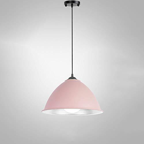MFZWBGY Forma de tapa Araña de macarrón Simplicidad nórdica Luz colgante decorativa Moderna Iluminación colgante de una sola cabeza Cabecera de dormitorio Lámpara de ahorro de energía Luces de interio