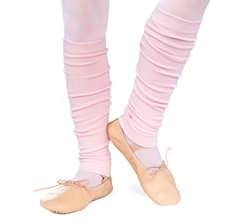 divata Kinder Ballett Stulpen, Mädchen - Ballettstulpen ohne Fersenloch - Tanzstulpen Beinstulpen Armstulpen, Weiche Legwarmer, Rosa, 1 - 6 Jahre