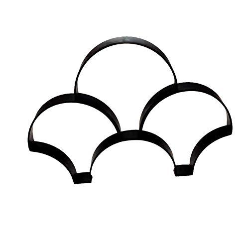 NINAINAI Molde De Pavimento Molde de Cerca Moldeado de Cemento Molde de Bricolaje Suelo Molde de baldosa Molde de jardín jardín Molde De Acera (Color : Black, Size : 54x36cm)