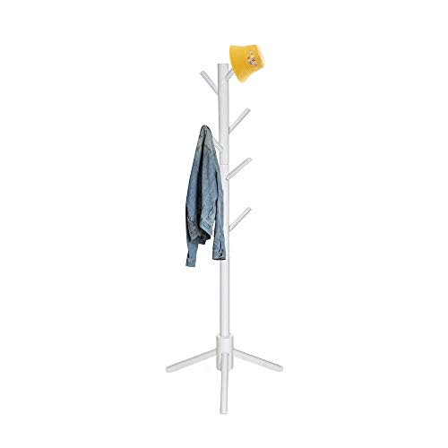 Kids Coat Rack Clothing Coat Tree Sturdy coat rack Freestanding Kids Coat Hanger Stand No Tools Required Easy to Assembly Children Clothes Hat Bag Organizing in Room Entryway (white)