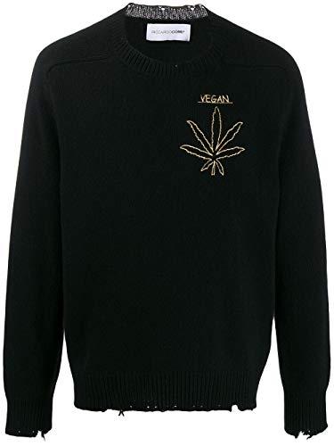 RICCARDO COMI Luxury Fashion Mens AW19GR05GVGNERO Black Sweater | Fall Winter 19