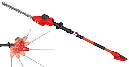 Grizzly EHS 500 T Taille-haie électrique télescopique Longueur de coupe 41 cm 500 W Longueur totale 2,38 m