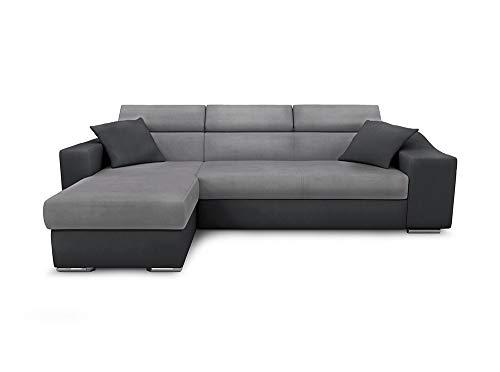 Canapé d'angle Gris Microfibre