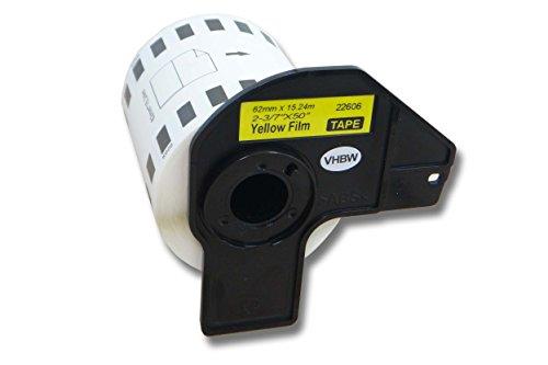 vhbw 1x Rolle Etiketten Aufkleber für Brother P-Touch QL-500BW, QL-550, QL-560, QL-560VP, QL-570, QL-580, QL-580N, QL-650 wie Brother DK-22606.