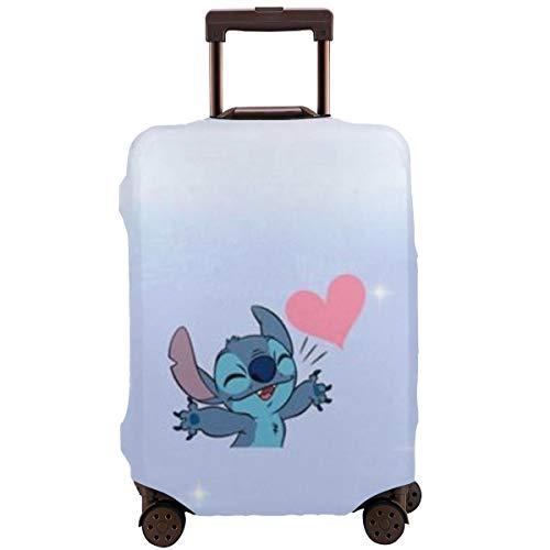Lilo Stitch Funda para equipaje, protección de equipaje, protección elástica de viaje, con cremallera invisible, protector de maleta de viaje, 4 tamaños de 18 a 32 pulgadas