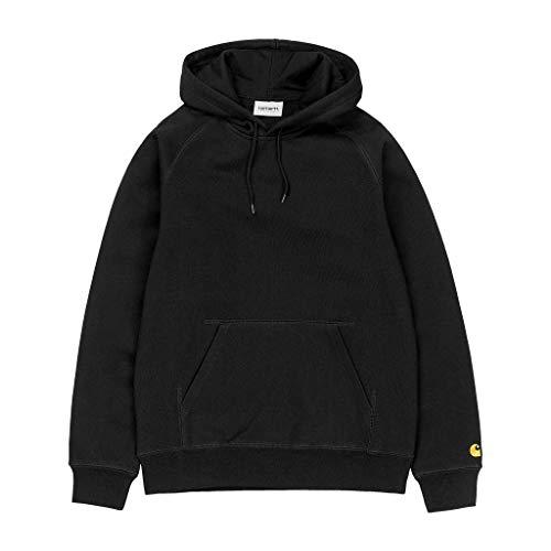 316 TH6cKoL. SS500  - CARHARTT WIP Mens Hooded Chase Sweatshirt (Small, Black/Gold)