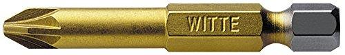 'Witte 27541 - Punta de destornillador de Nitruro de Titanio 1/4'' Pz.1 x 50 mm', multicolor