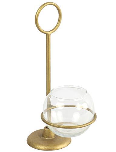 Countryfield Windlicht LUKKAS S Teelichthalter Gold 28.5cm