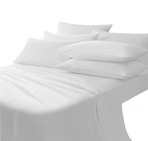 Scala Bedding 710 Thread Count 100% Egyptian Cotton 1 Piece Soft Italian Finish Flat Sheet Long King Top Sheet White