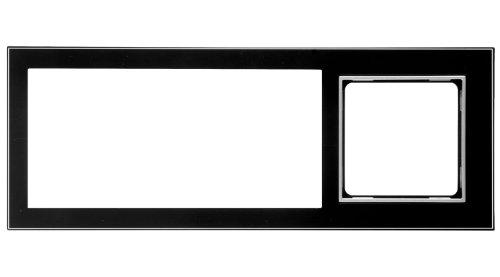 Honeywell Home PEHA MP3 AudioPoint Nova-Design Kombi-Rahmen 3-fach, Rahmen Piano schwarz