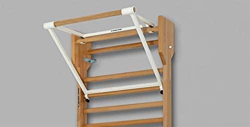 ARTIMEX Barra de traccion Plegable para espaldera - utilizadas en hogares, gimnasios o centros de Fitness para Entrenamiento y Fitness, código 248 (Blanco)