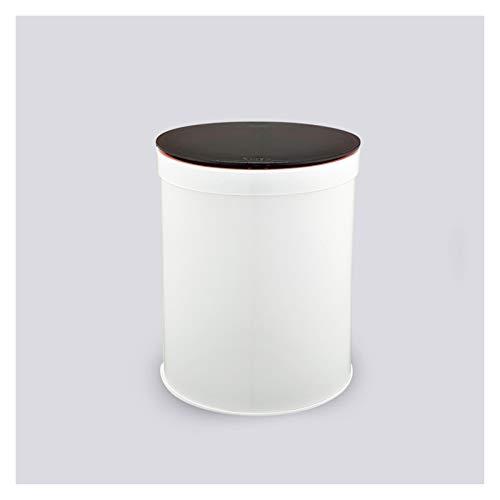 Papeleras La basura de escritorio puede creativo Mesa de comedor de noche Pequeño bote de basura de tipo presión bote de basura con tapa redonda Papelera de reciclaje, 6.6' x 8.2' Diámetro superior H