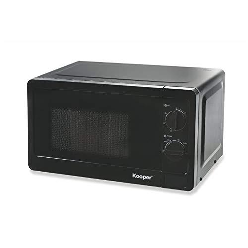 Horno de microondas de acero 20 l 700 W negro