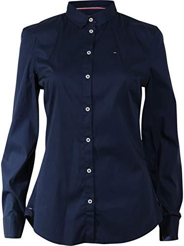 Tommy Jeans Damen Original Stretch Langarm Shirt Blau (Dress Blues 418) X-Large