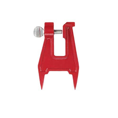 healthwen Tocón tornillo de banco de sierra afilador de cadena herramienta de archivo abrazadera de barra accesorios de motosierra archivo profesional soporte de cadena de sierra cadena de sierra rojo