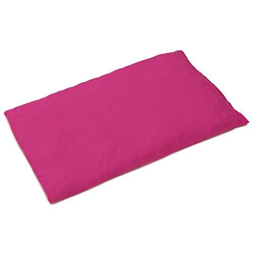 Kirschkernkissen 30 x 20 cm, pink - Als Wärmekissen & Kältekissen - Körnerkissen für Mikrowelle und Backofen - 30x20cm
