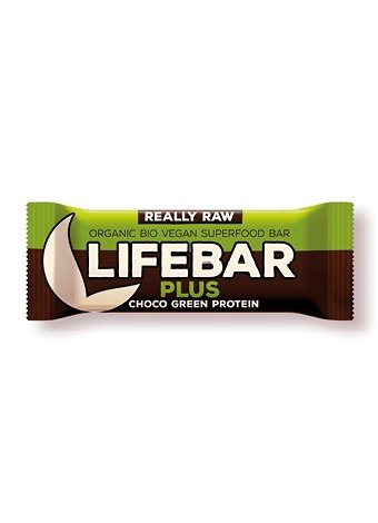 Barrita Lifebar Plus BIO chocolate con proteína verde Lifefood, 47 g