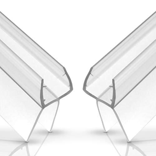 Balder 2 x 100cm Universal Premium Duschdichtung [Doppelpack - Ideale Dichtung für 6mm, 7mm und 8mm Glastür - Langlebige Duschkabinen Gummilippe - Einfach zuschneidbarer Schwallschutz